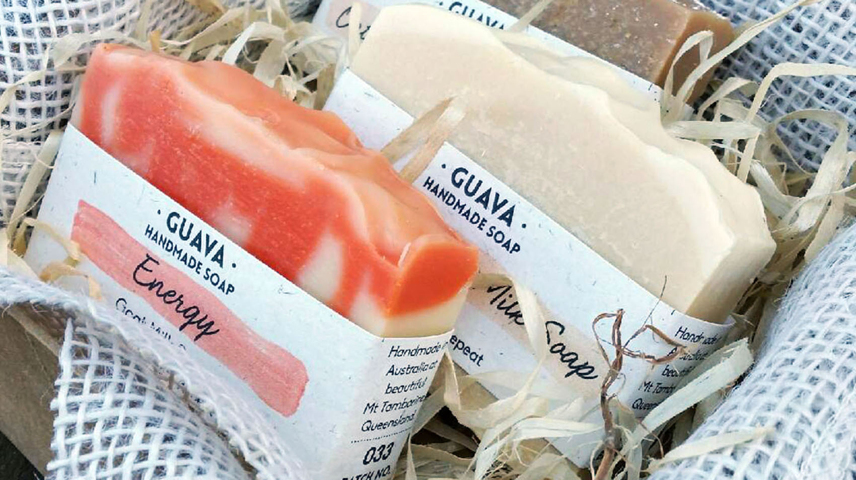 different types of handmade soap