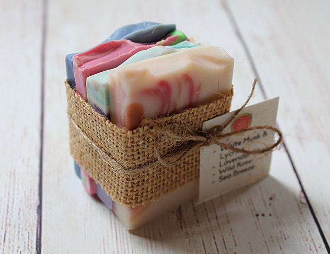 sample pack of soap