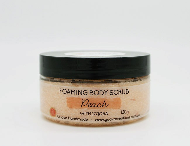 peach foaming body scrub