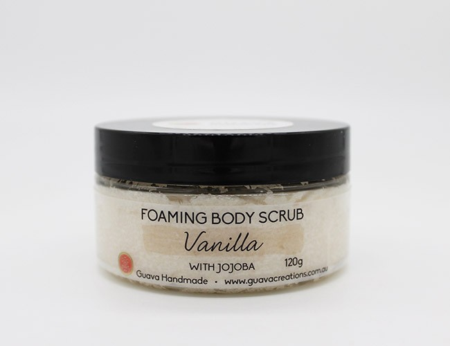 vanilla foaming body scrub