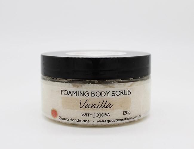 vanilla foaming body scrub