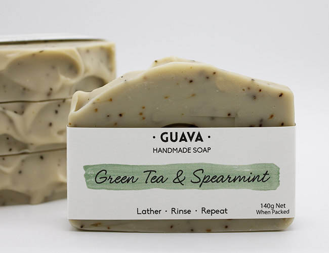 green tea and spearmint handmade soap
