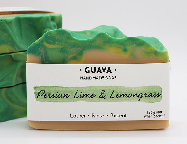 persian lime and lemongrass handmade soap