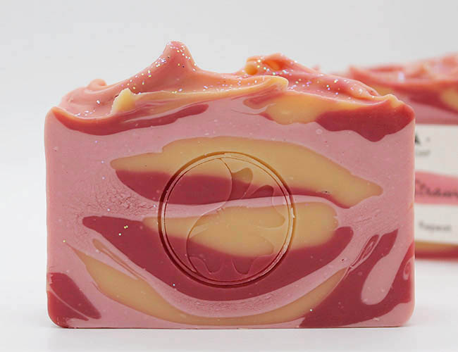 champagne and strawberries soap