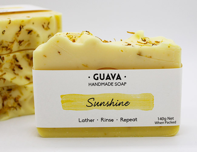 sunshine lemon soap