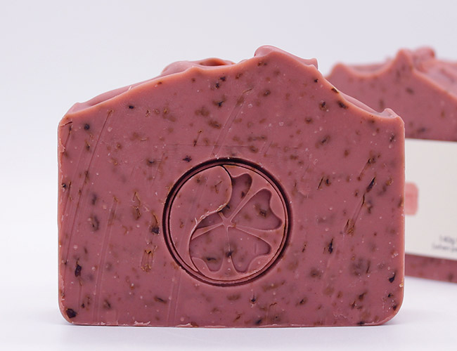 rose clay soap without label