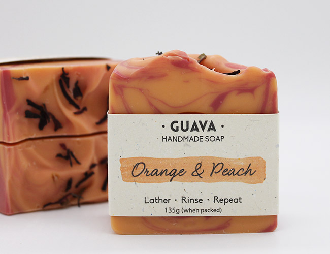 orange and peach soap