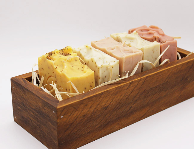 handcrafted timber soap box