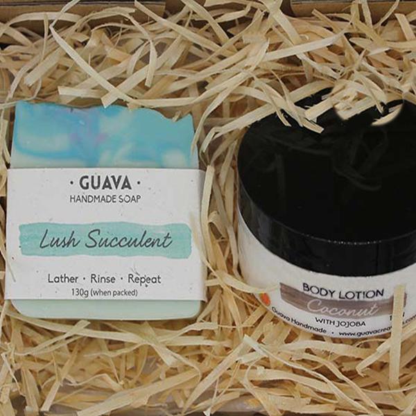 soap bar and jar gift set